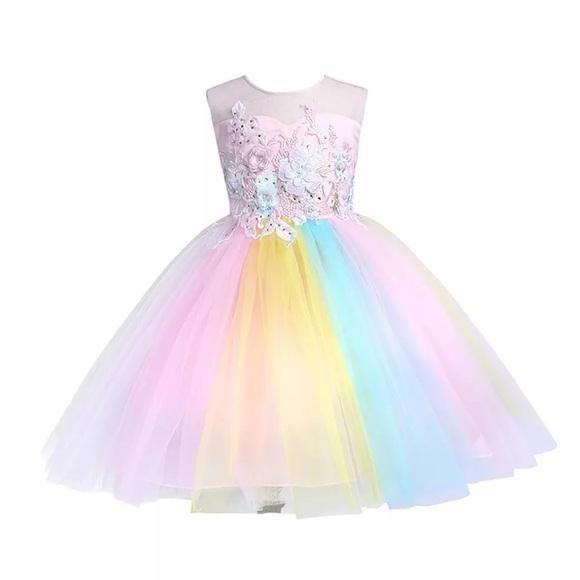 6a28f57629e1 Boutique Dresses | Little Girls Rainbow Princess Tutu Dress | Poshmark